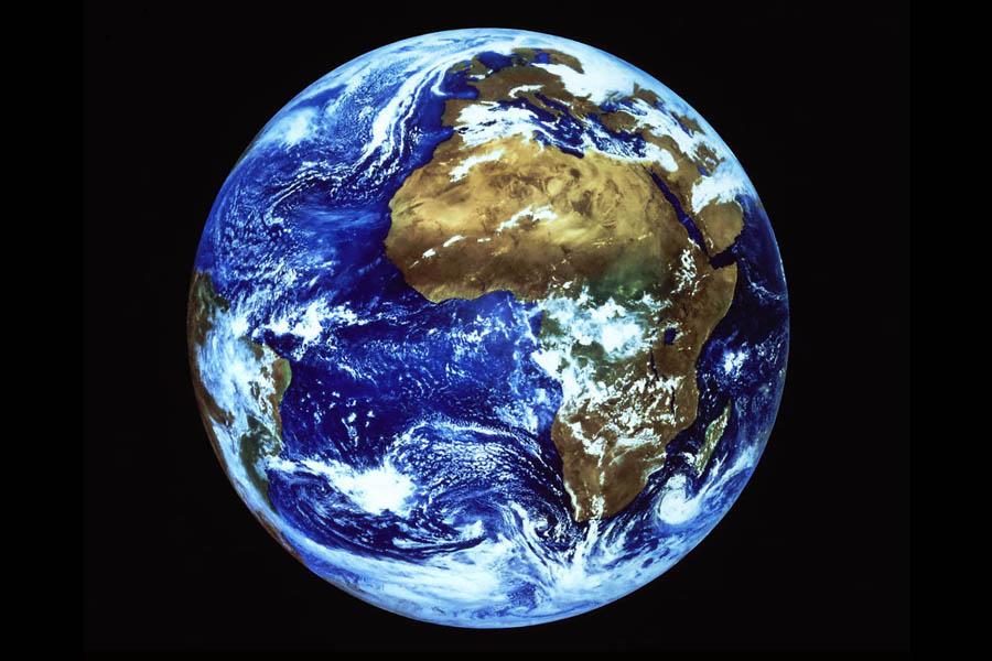 Ein Blick aus dem Weltall auf die Erde.