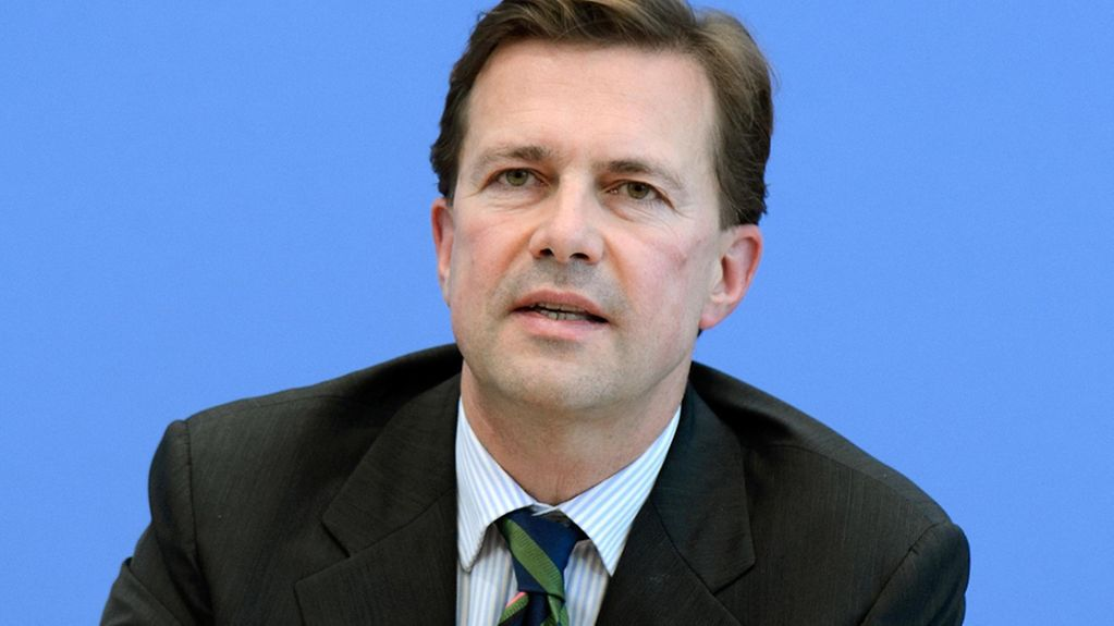 Steffen Seibert, federal government spokesperson, during a press conference