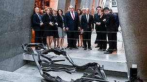 Chancellor Angela Merkel and Cabinet ministers during their visit to the Yad Vashem World Holocaust Remembrance Center