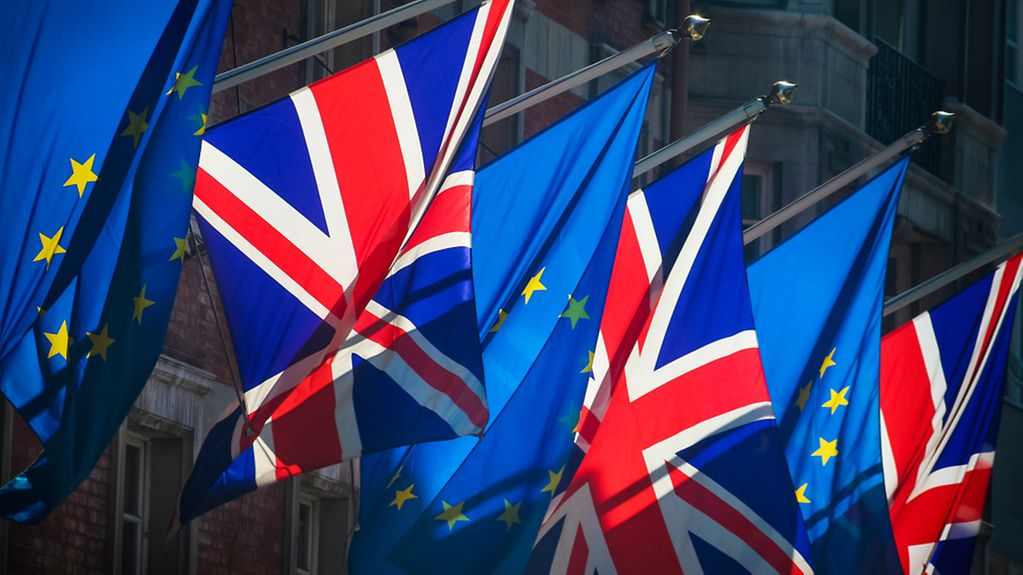 EU and British flags