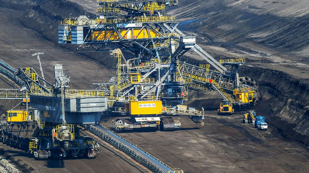 Opencast mining in the Lausitz region (Brandenburg)