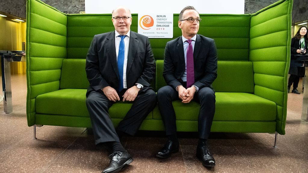 Federal Economics Affairs Minister Peter Altmaier and Federal Foreign Minister Heiko Maas at the Energy Transition Dialogue in Berlin