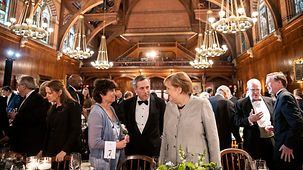 Chancellor Angela Merkel in conversation with Lawrence Bacow, President of Harvard University