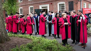 Chancellor Angela Merkel at Commencement at Harvard University