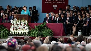 The Chancellor spoke at the afternoon Commencement exercises.