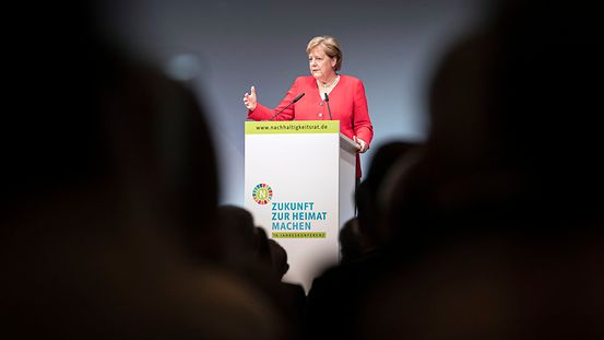The Chancellor speaks at the annual meeting of the German Council for Sustainable Development