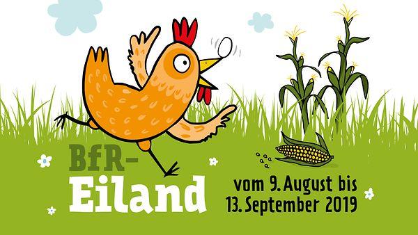 Logo BfR-Eiland - interaktives Pflanzenlabyrinth zum Thema Huhn und Ei