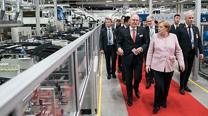 Chancellor Angela Merkel visits the company Webasto.