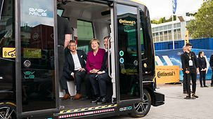Chancellor Angela Merkel tours the Frankfurt Motor Show (IAA).