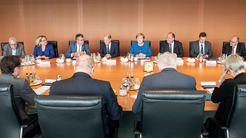 The Cabinet meets at the Federal Chancellery.
