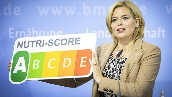 Julia Klöckner bei der Präsentation der neuen Nährwertkennzeichnung.