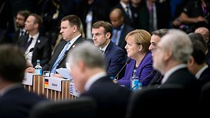 Chancellor Angela Merkel at the start of the NATO meeting
