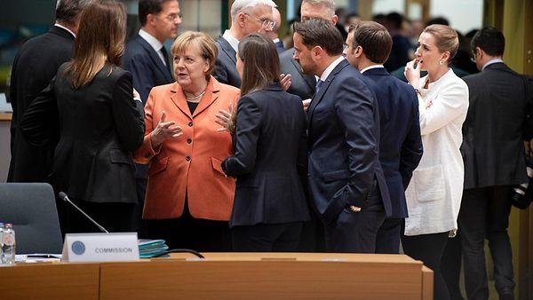 Bundeskanzlerin Merkel auf dem Europäischen Rat in Brüssel