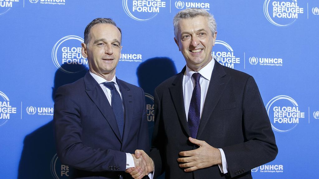 Federal Foreign Minister Heiko Maas with the UN High Commissioner for refugees, Filippo Grandi.