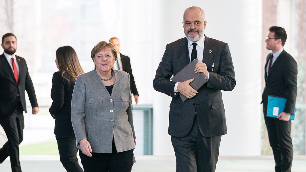 Albaniens Ministerpräsident zu Besuch im Kanzleramt