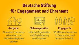"""Die Grafik trägt den Titel """"Deutsche Stiftung für Engagement und Ehrenamt"""