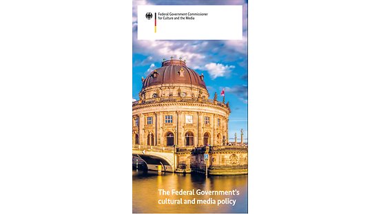 "Cover Flyer ""the Federal Government's cultural and media policy"""