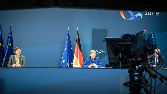 Chancellor Angela Merkel speaks at the annual conference of the European Sustainable Development Network (ESDN).