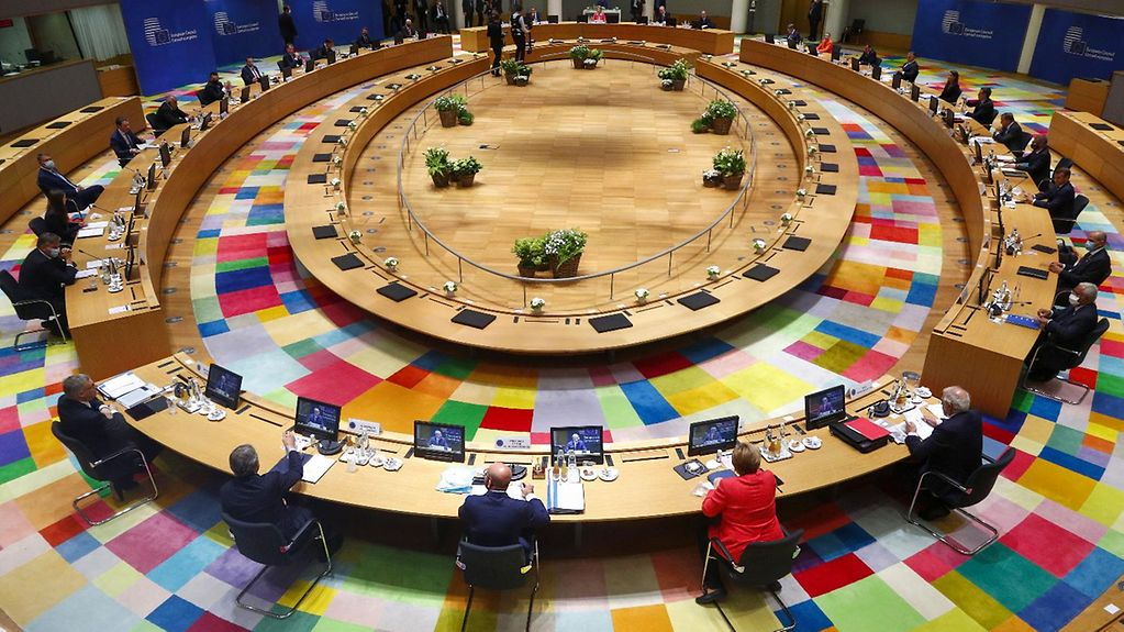 The European Council is meeting in the Council building in Brussels.