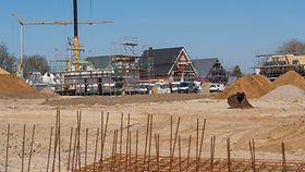 Foto zeigt ein Neubaugebiet.