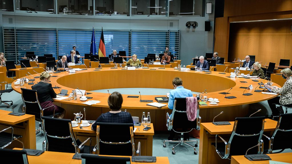 Cabinet Committee for the fight against racism and right-wing extremism, chaired by Chancellor Angela Merkel