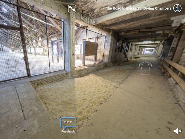 Screenshot des virtuellen Rundgangs durch die KZ-Gedenkstätte Neuengamme