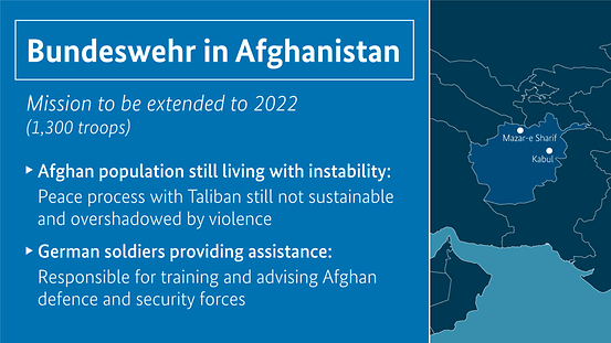 The Bundeswehr is providing training and advice to Afghan security forces