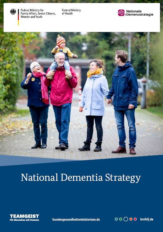 "Titelbild der Publikation ""National Dementia Strategy - Following the adoption of the German National Dementia Strategy in 2020, the English translation of the strategy is now published as long version"""