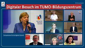 Kanzlerin Merkel zu Besuch im Bildungszentrum TUMO