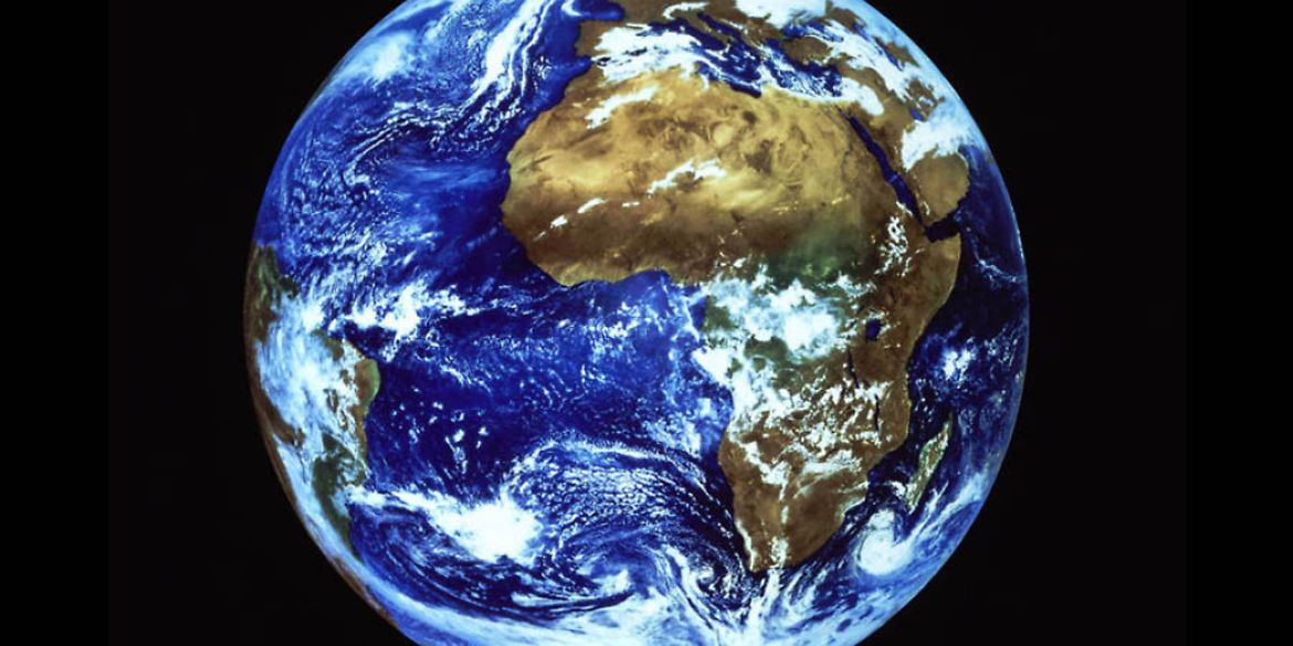 Earth and the continent of Africa seen from space