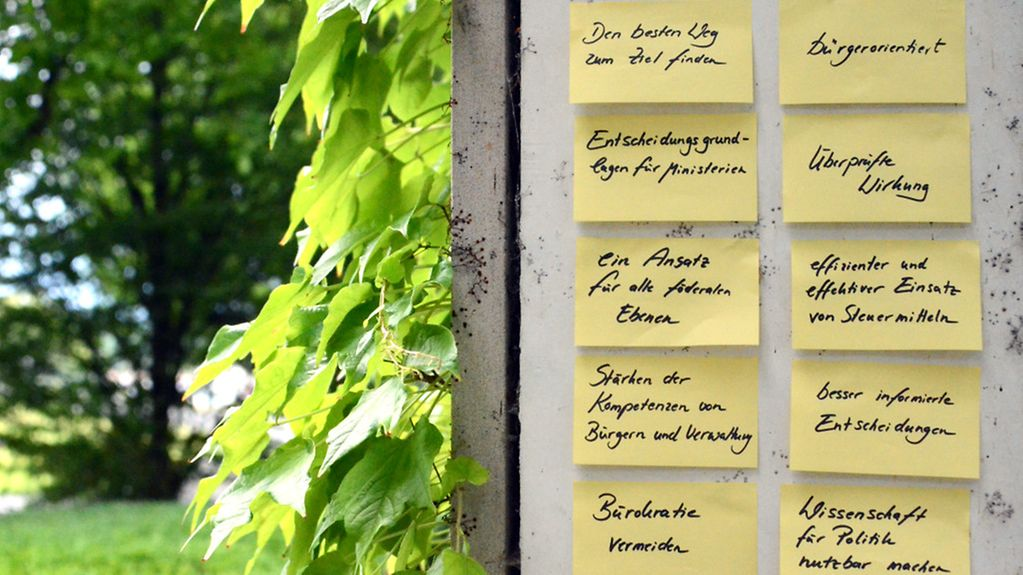Post-its an einer Wand