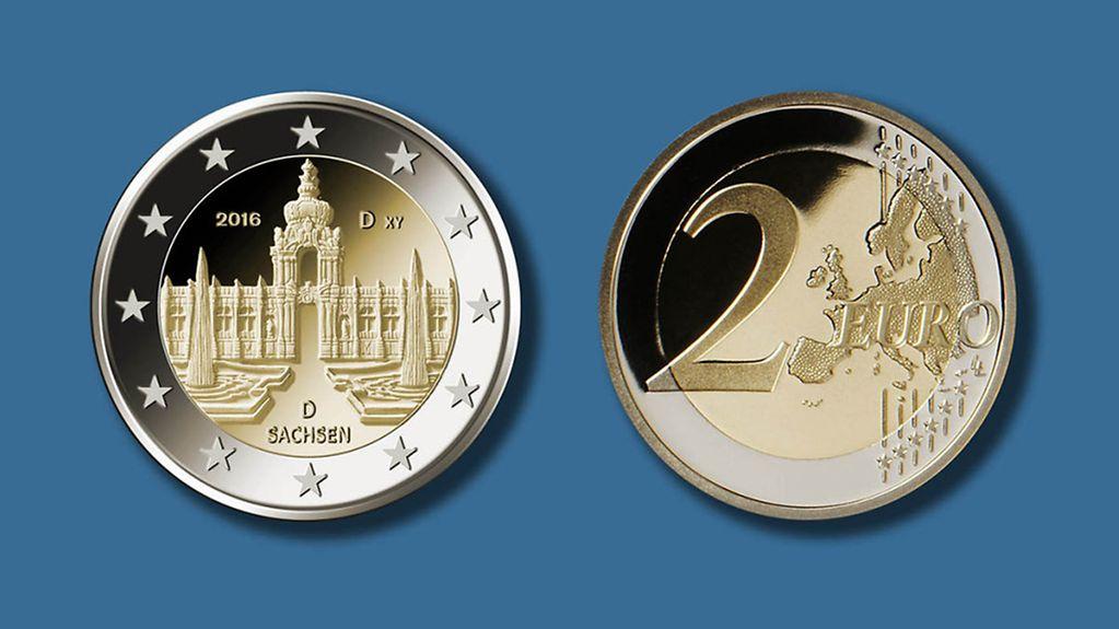 Bundesregierung Aktuelles Kanzlerin übergibt Neue Zwei Euro Münze