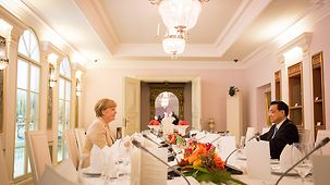 Dinner for Chancellor Angela Merkel and Chinese Prime Minister Li Keqiang