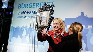 "Manuela Schwesig, Federal Minister for Family Affairs, Senior Citizens, Women and Youth at the ""Twitter Mirror""."