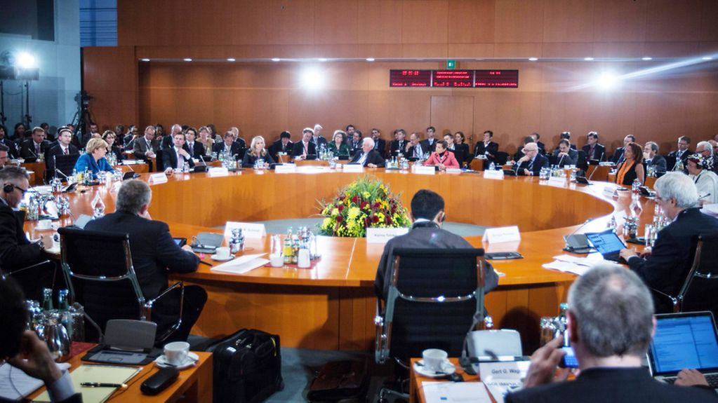 International German Forum in the conference room at the Federal Chancellery