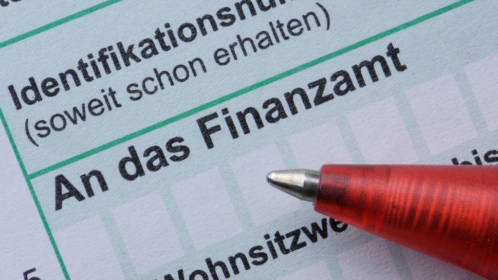 Ein Kugelschreiber liegt in Straubing (Niederbayern) auf einer Einkommensteuererklärung. Steuererklärung, Steuer, Finanzamt,