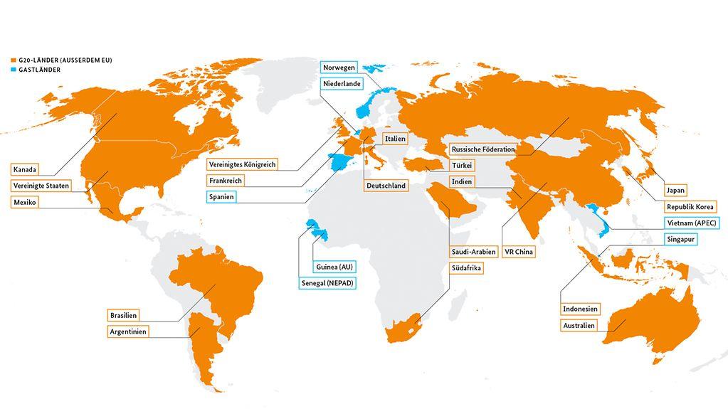 Alle Eu Länder Karte.Bundesregierung Thema G20 Wer Gehört Zur G20