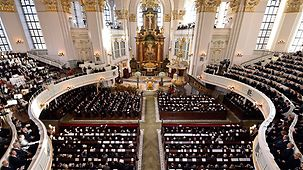 The state funeral in Hamburg's St. Michael's Church