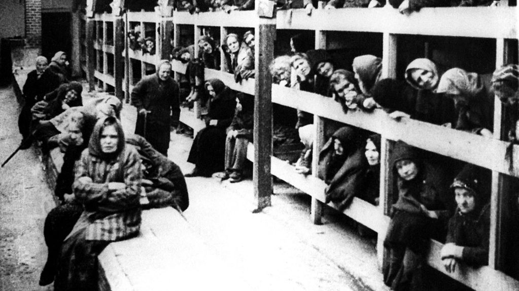 An undated file picture of the women's barrack in the Auschwitz-Birkenau concentration camp in Oswiecim. The world prepares to mark Holocaust Memorial Day on Thursday 27 January 2005 marking the 60th anniversary of the end of the Holocaust, and the …