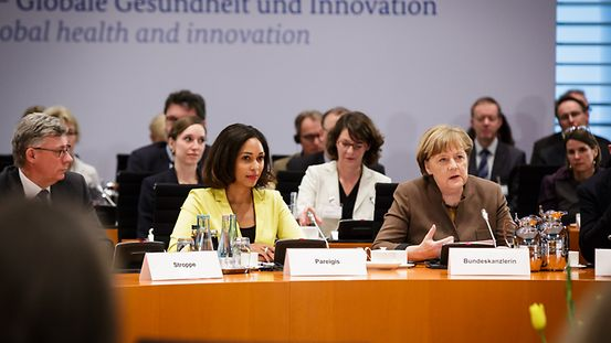 Chancellor Angela Merkel at the Third International German Forum, which was held at the Federal Chancellery