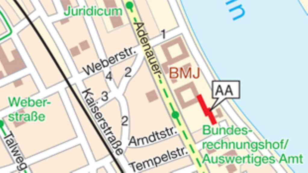 How to find the AA in Bonn