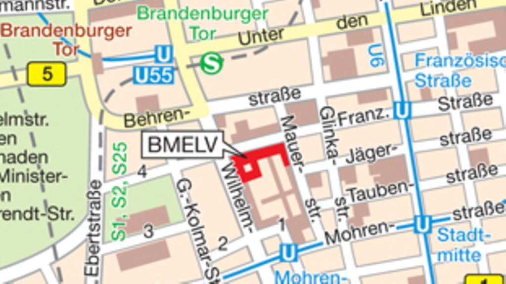 How to find the BMELV in Berlin