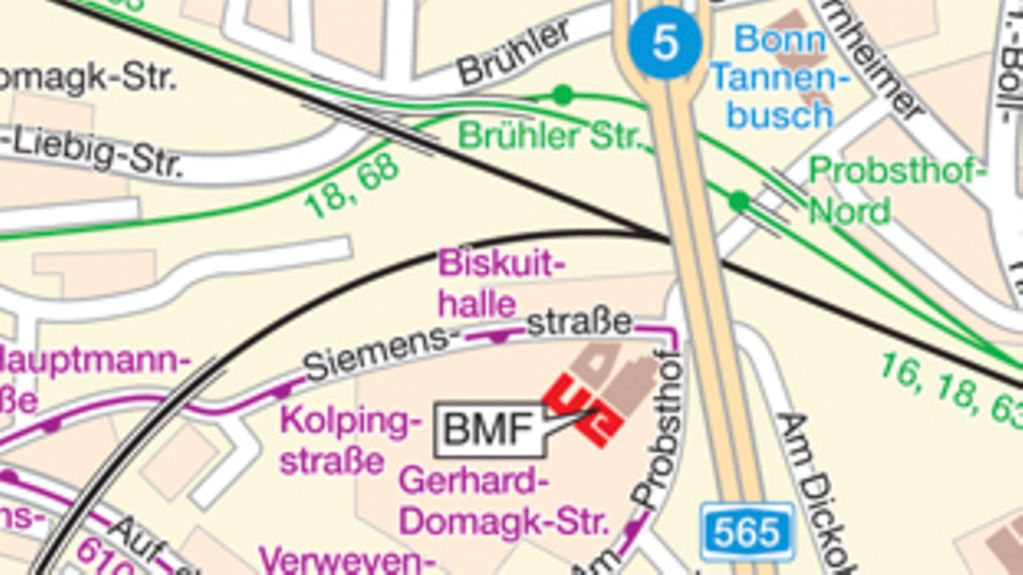 How to find the BMF in Bonn