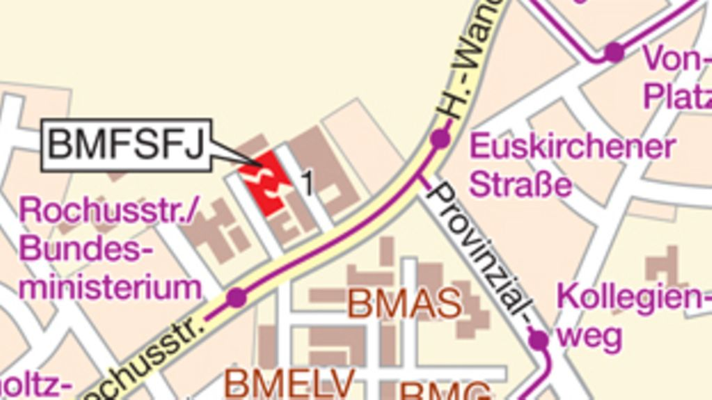 How to find the BMFSFJ in Bonn