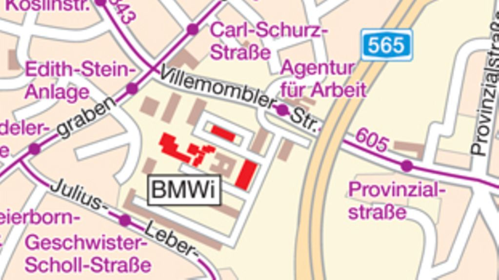 How to find the BMWi in Bonn