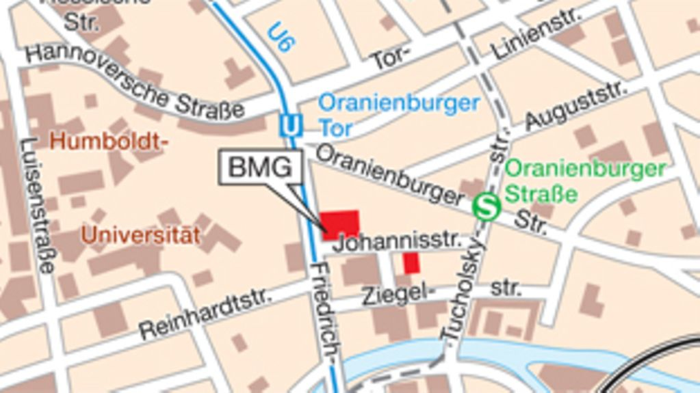 How to find the BMG in Berlin