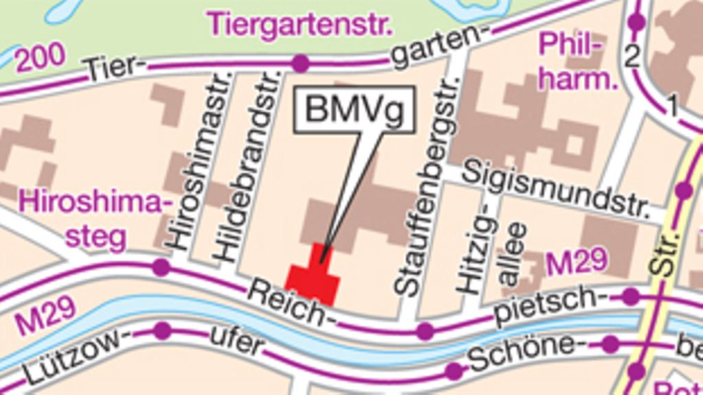 How to find the BMVg in Berlin