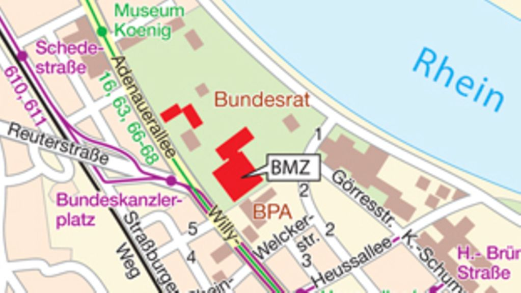 How to find the BMZ in Bonn