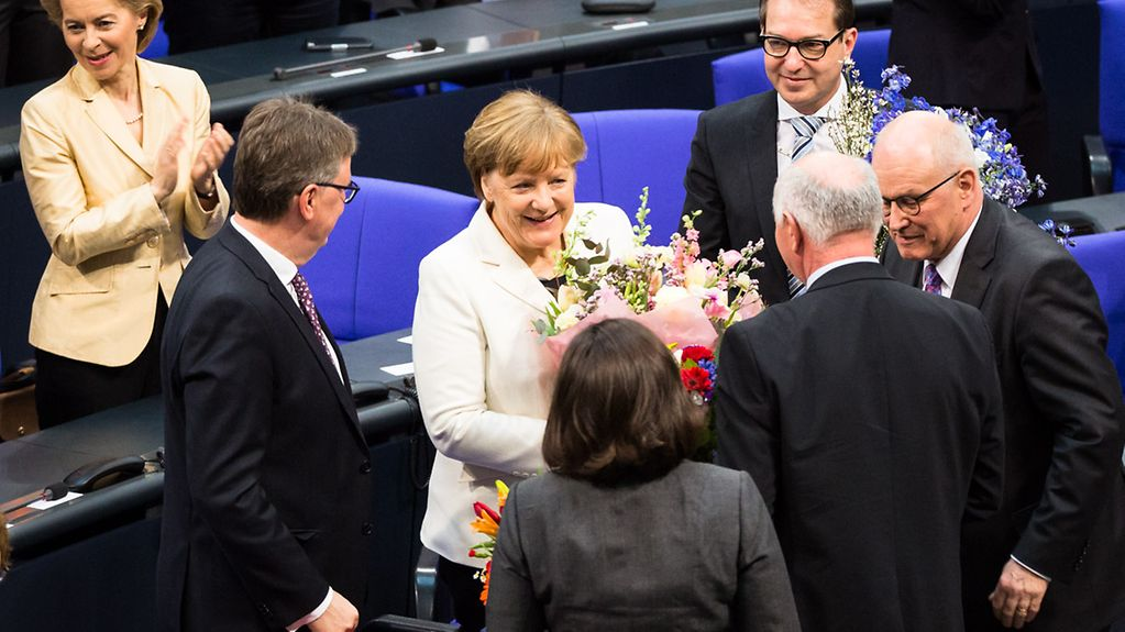 Congratulations for Chancellor Angela Merkel following her re-election