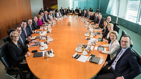 The Chancellor chaired the meeting of the new Cabinet